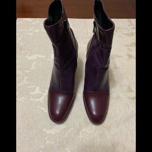 Purple and Plum short boots